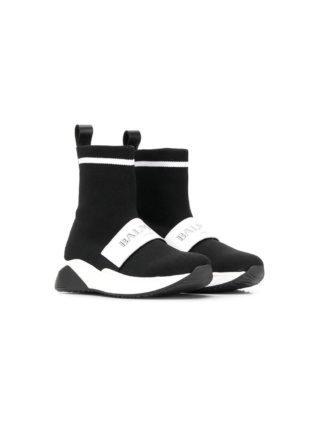 Balmain Kids high-top sneakers met logoband (zwart)
