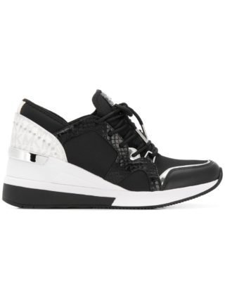Michael Michael Kors sneakers met sleehak - Zwart