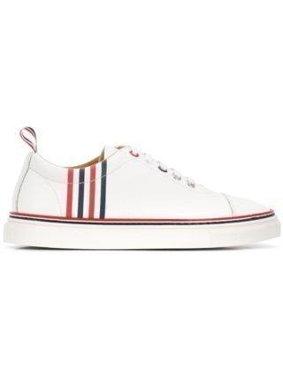 Thom Browne Sneakers met zij-strepen (wit)