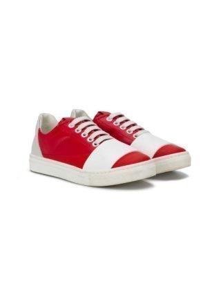 Marni Kids Tweekleurige sneakers (rood)