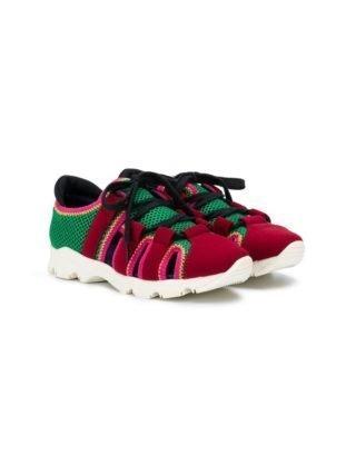 Marni Kids Sneakers met veters (rood)