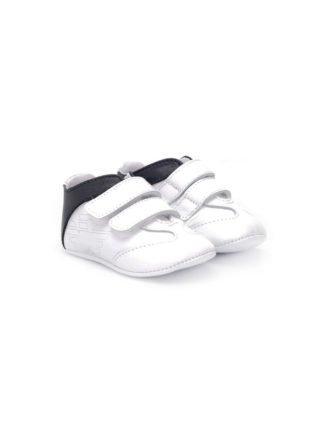 Emporio Armani Kids Sneakers met klittenband (wit)