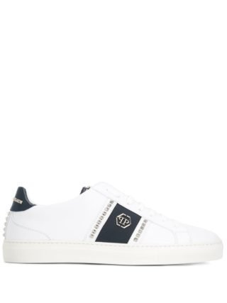 Philipp Plein logo studded sneakers (wit)