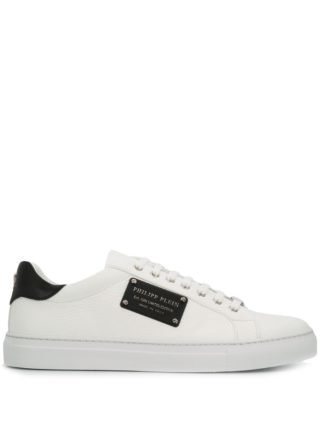 Philipp Plein logo plaque sneakers (wit)