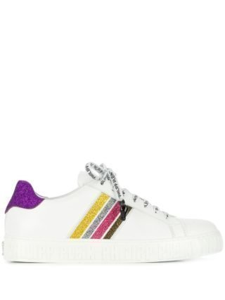 Philipp Plein glitter stripe sneakers (wit)
