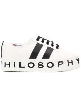 Philosophy Di Lorenzo Serafini Superga sneakers met plateauzool (wit)