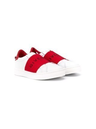 Givenchy Kids Sneakers met logo band (wit)