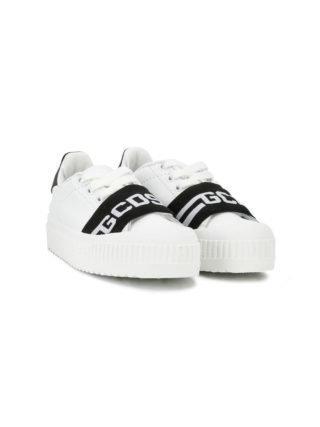 Gcds Kids Sneakers met logo (wit)