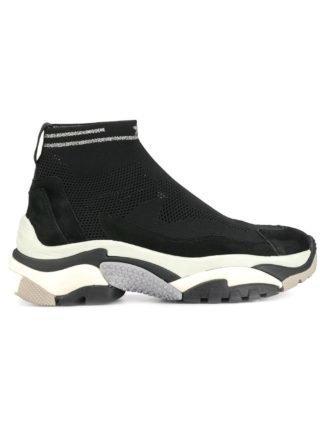 Ash Addict stretch sneakers - Zwart