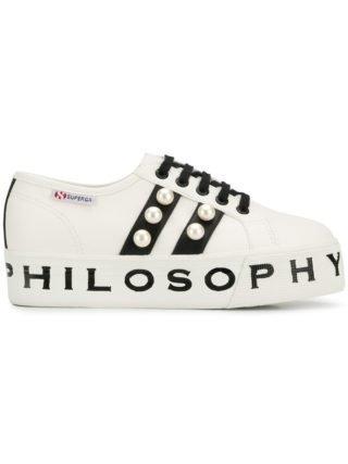 Philosophy Di Lorenzo Serafini Sneakers met verfraaide plateauzool (wit)