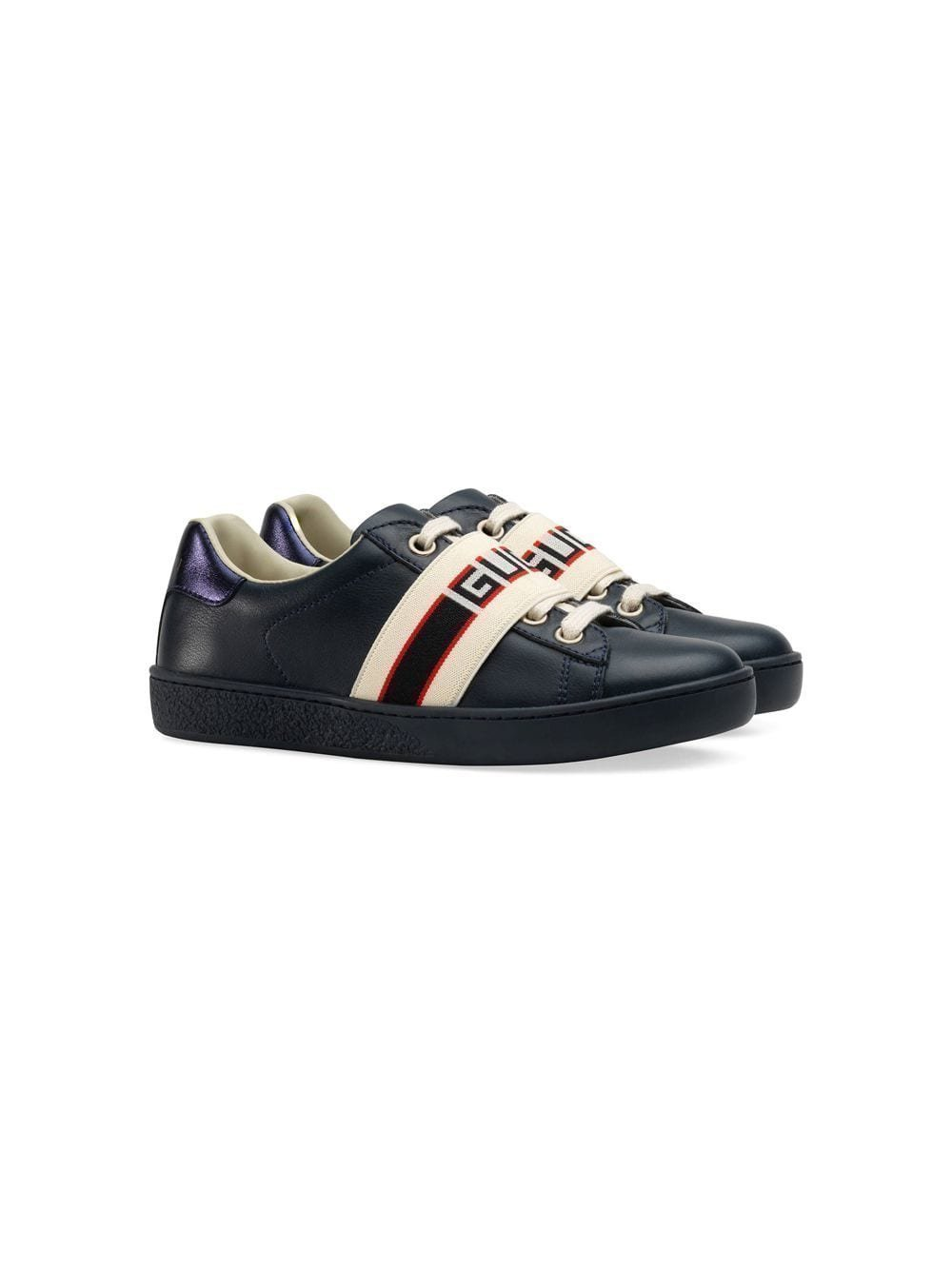 fe81be62fc4 Gucci Kids Gucci Kinderen Ace sneaker met streep - Blauw ...
