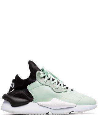 Y-3 Kaiwa leren sneakers - Groen