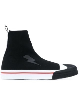 Neil Barrett Lightning soksneakers (zwart)