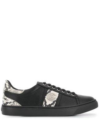 Baldinini Sneakers met slangenprint (zwart)