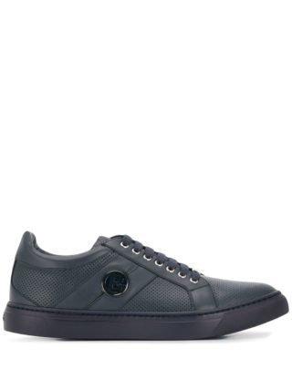 Baldinini Sneakers met logoplakkaat (blauw)