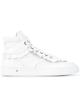 Laurence Dacade Sneakers met ruches (wit)