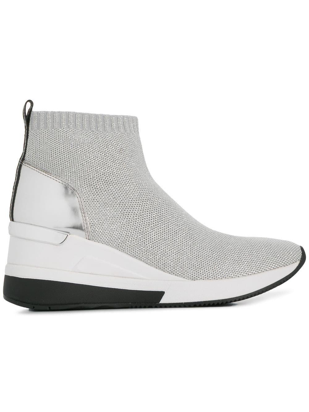 a9b6f16e2c8 Michael Michael Kors Skyler sneakers (zilver) | 43R9SKFE5D | Michael ...