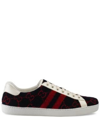 Gucci Ace GG sneakers van wol (blauw)