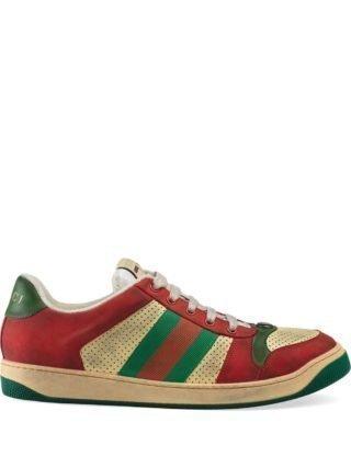 Gucci Screener sneakers van leer - Rood