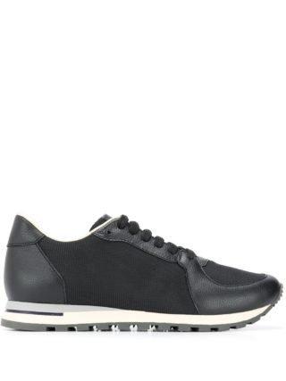 Canali Sneakers met mesh (zwart)