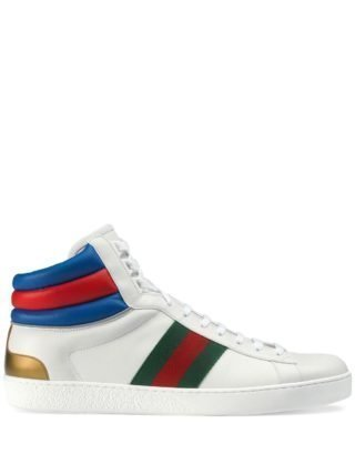 Gucci Ace high-top sneakers (wit)