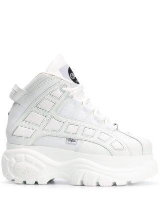 Buffalo Sneakers met plateauzool (wit)