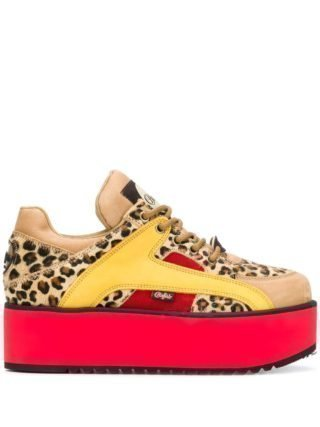 Buffalo Sneakers met luipaarddessin (Overige kleuren)