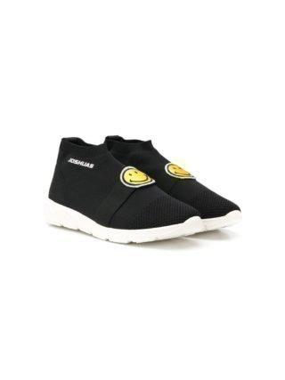 Joshua Sanders Kids Smile sock sneakers (zwart)