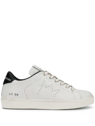 Leather Crown ICONIC sneakers - Nude