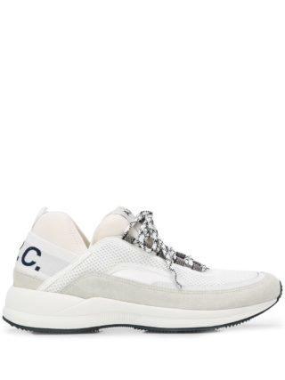 A.P.C. Sneakers met pand van mesh (wit)