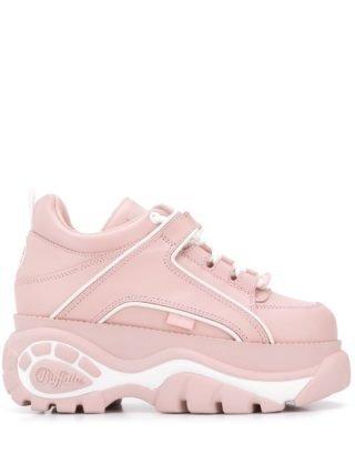 Buffalo Sneakers met geribbelde zool (roze)