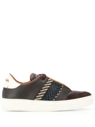 Ermenegildo Zegna Geweven sneakers (bruin)