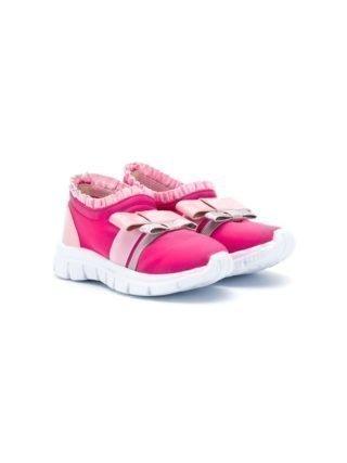 Sophia Webster Mini Andie sneakers met strik (roze)