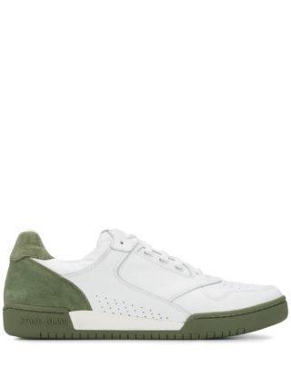 Stone Island Sneakers met contrast (wit)