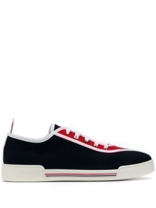 Thom Browne Sneakers met contrastvlakken (blauw)