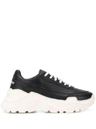 Joshua Sanders Zenithh sneakers met plateauzool - Zwart