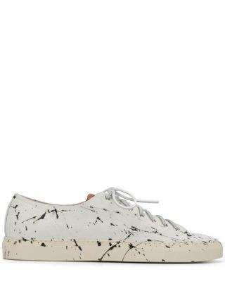 Buttero sneakers met verfspetters (wit)
