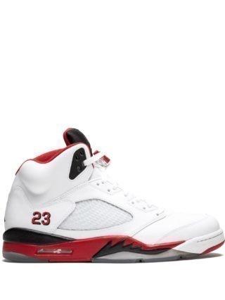 Jordan Air Jordan Retro 5 high top sneakers - Wit
