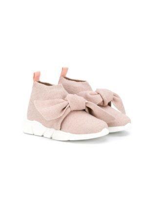 Florens Soksneakers met geknoopt detail (roze)