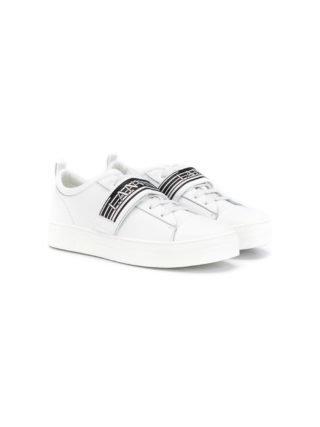 Lanvin Enfant TEEN Sneakers met logoband (wit)