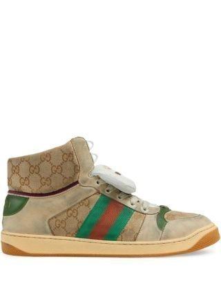 Gucci Men's Screener GG high-top sneakers - Wit