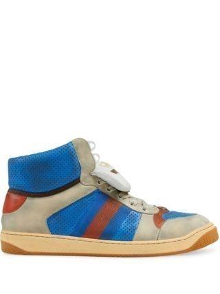 Gucci Screener sneakers van leer - Blauw