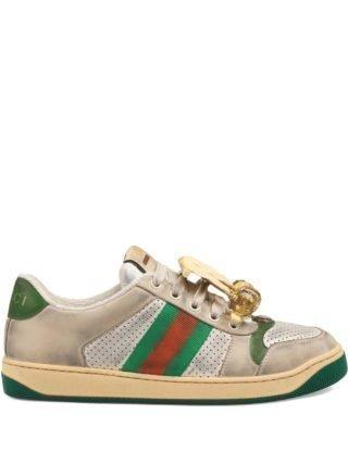 Gucci Screener sneakers met kersen - Wit