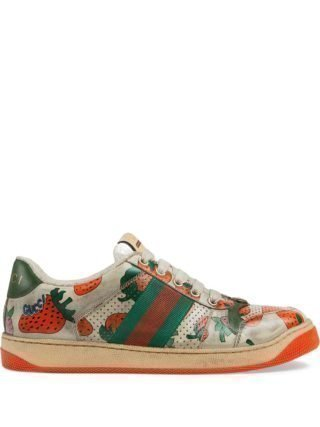 Gucci Screener Gucci Strawberry sneakers - Wit