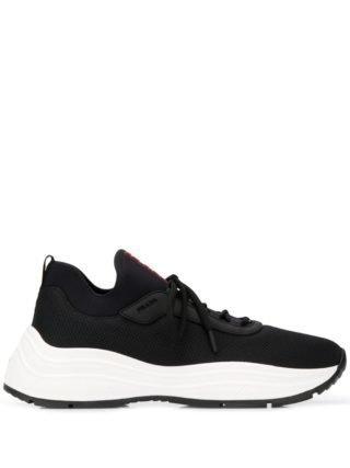 Prada America's Cup sneakers (zwart)