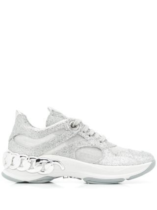 Casadei glitter chunky sneakers (grijs)