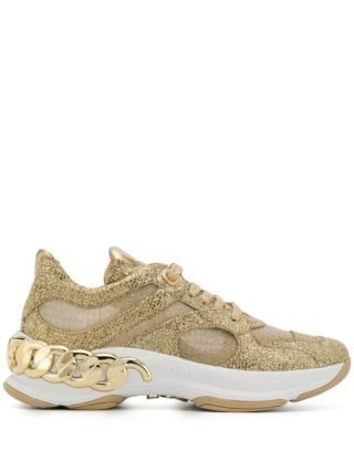 Casadei glitter chunky sneakers (goud)