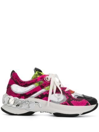 Casadei snakeskin print chunky sneakers (roze)