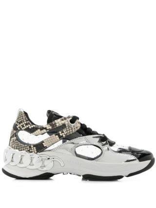 Casadei snakeskin print chunky sneakers (zwart)