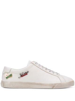 Saint Laurent Andy verfraaide sneakers (wit)